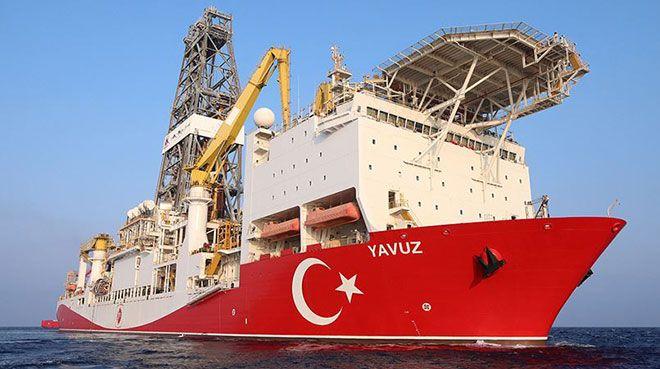 Sondaj gemisi `Yavuz` Mersin açıklarında