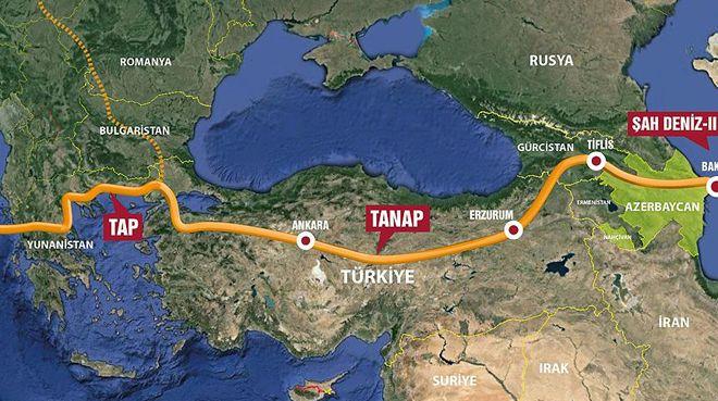TANAP yarın Avrupa`ya bağlanıyor