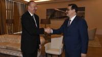 Bakan Dönmez, Aliyev`le görüştü