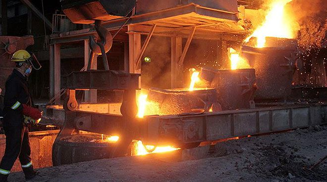 Ocakta çelik üretimi düştü