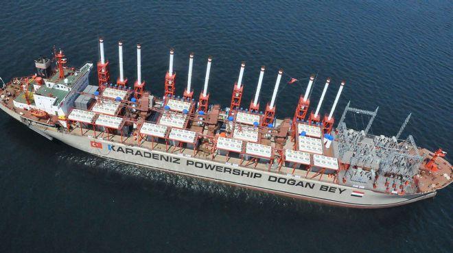 Türk enerji gemisi Afrika`da elektrik üretecek