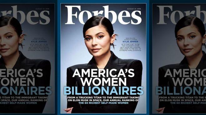Kylie Jenner Forbes`e kapak oldu