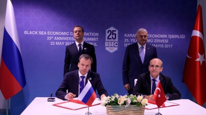 Yıldırım ile Medvedev ortak bildiriyi imzaladı