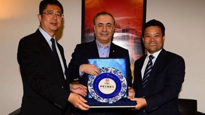Çinli dev bankadan Galatasaray`a ziyaret